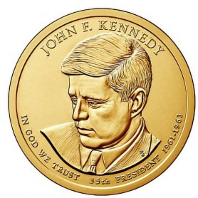 2015-D John F Kennedy Presidential Dollar