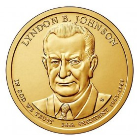 2015-D Lyndon B Johnson Presidential Dollar