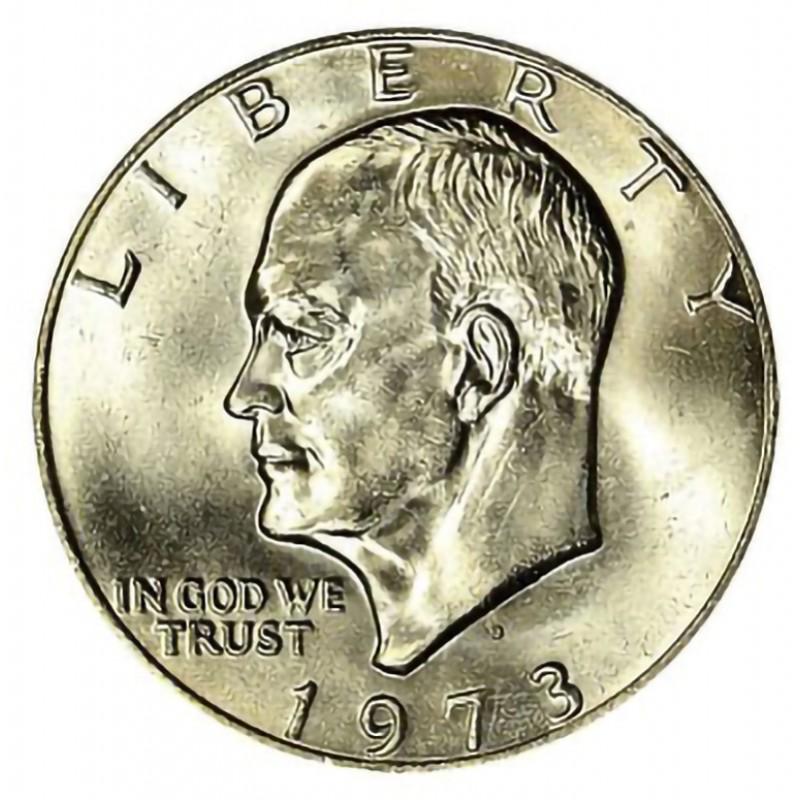 1973-D Eisenhower Dollar