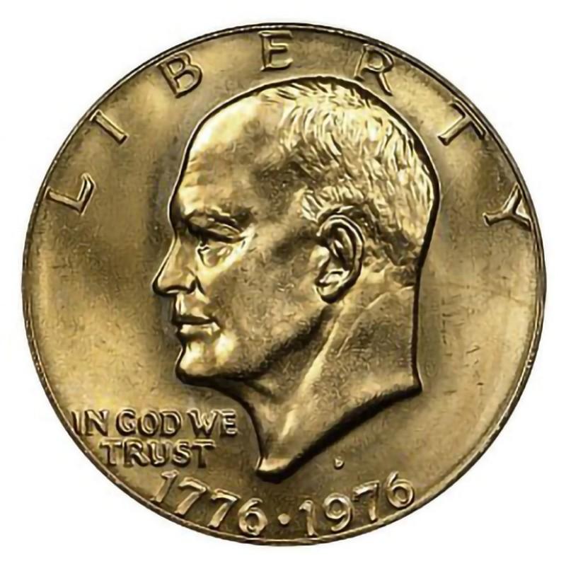 1976-D Type 1 Eisenhower Dollar