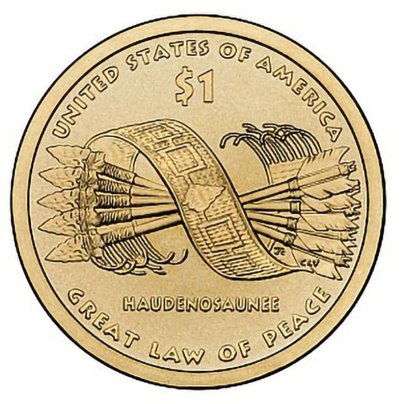 2010 D Great Law Of Peace Sacagawea Dollar Collectible Sacagawea