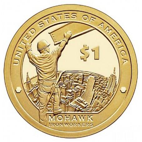 2015 S Mohawk Ironworkers Sacagawea Dollar Proof Collectible