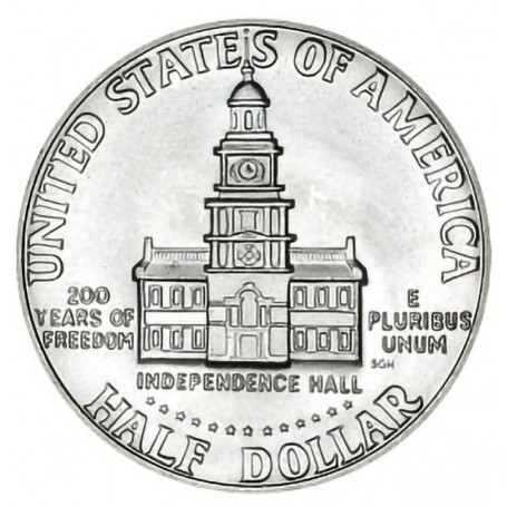 1976-S Bicentennial Silver Kennedy Half Dollar 40% Silver
