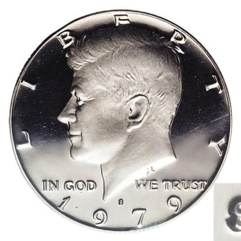 1979-S Kennedy Half Dollar Type 2 Clear