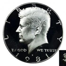 1981-S Kennedy Half Dollar Type 1 Filled