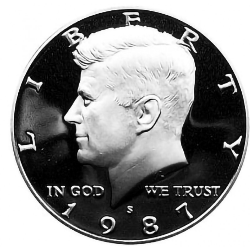 1987-S Kennedy Half Dollar Proof