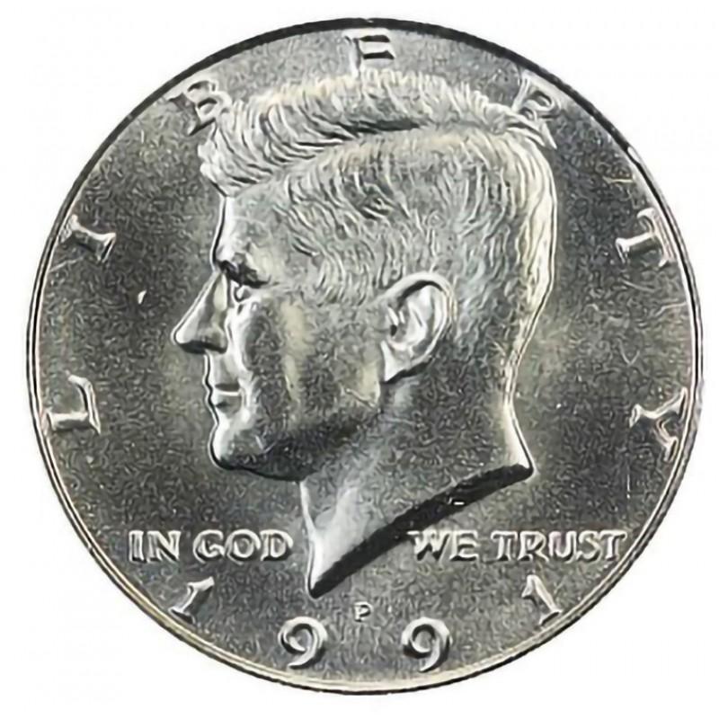 1991-P Kennedy Half Dollar