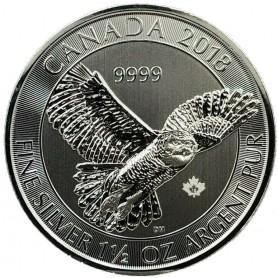 1.5 oz. Snowy Owl Silver Round