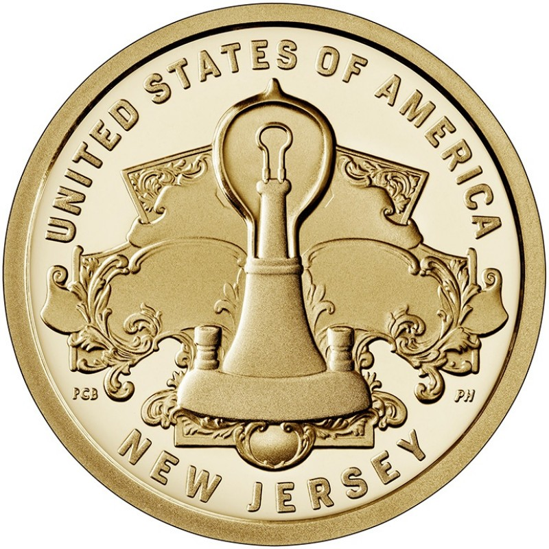 2019-S New Jersey American Innovation Proof Dollar