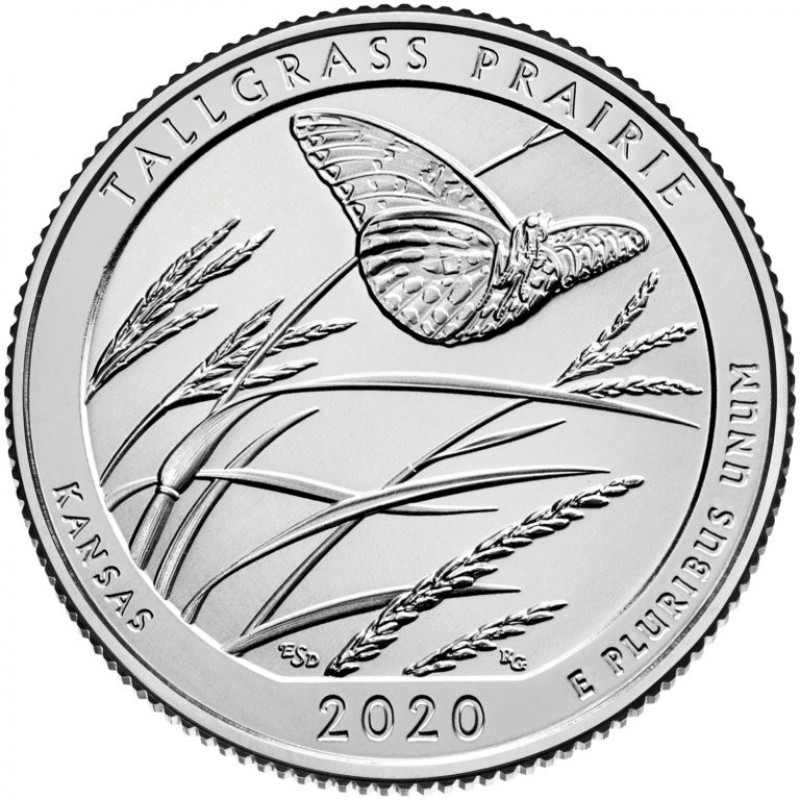 2020-S Tallgrass Prairie National Preserve Quarter Proof