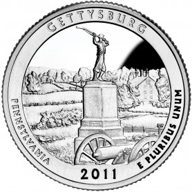2011-S Silver Gettysburg National Military Park Quarter Proof
