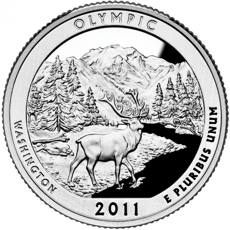 2011-S Silver Olympic National Park Quarter Proof