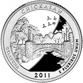 2011-S Silver Chickasaw National Recreation Area Quarter Proof