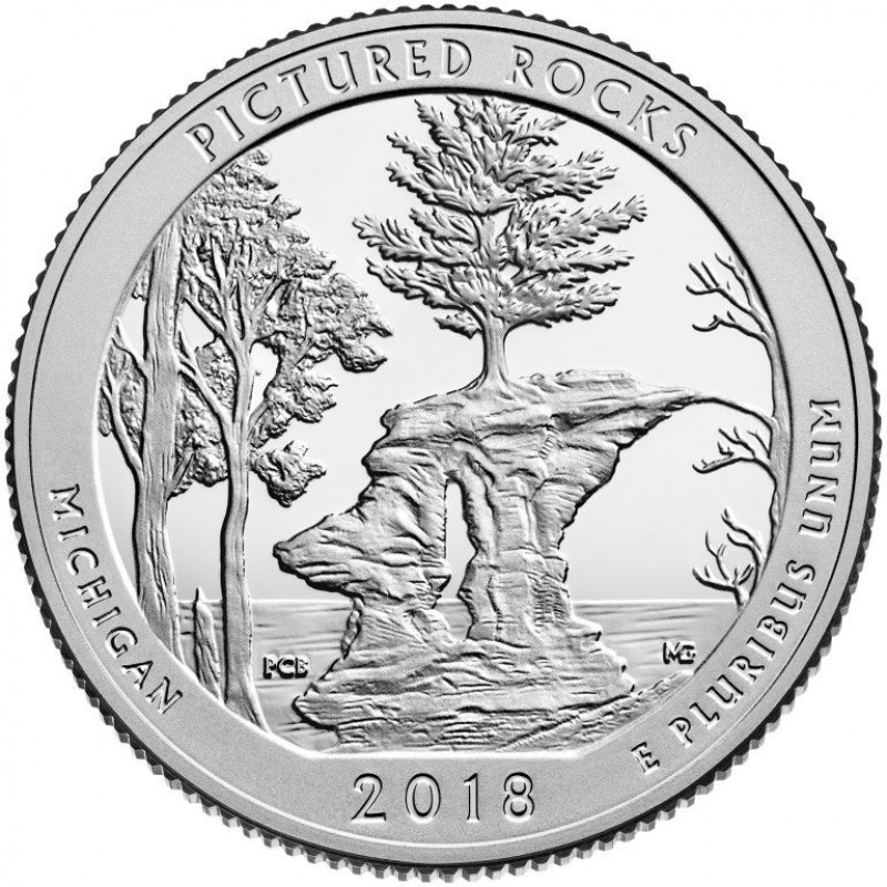 2018-S Pictured Rocks National Lakeshore Silver Proof Quarter