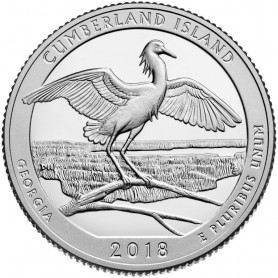 2018-S Silver Proof Cumberland Island National Seashore Quarter