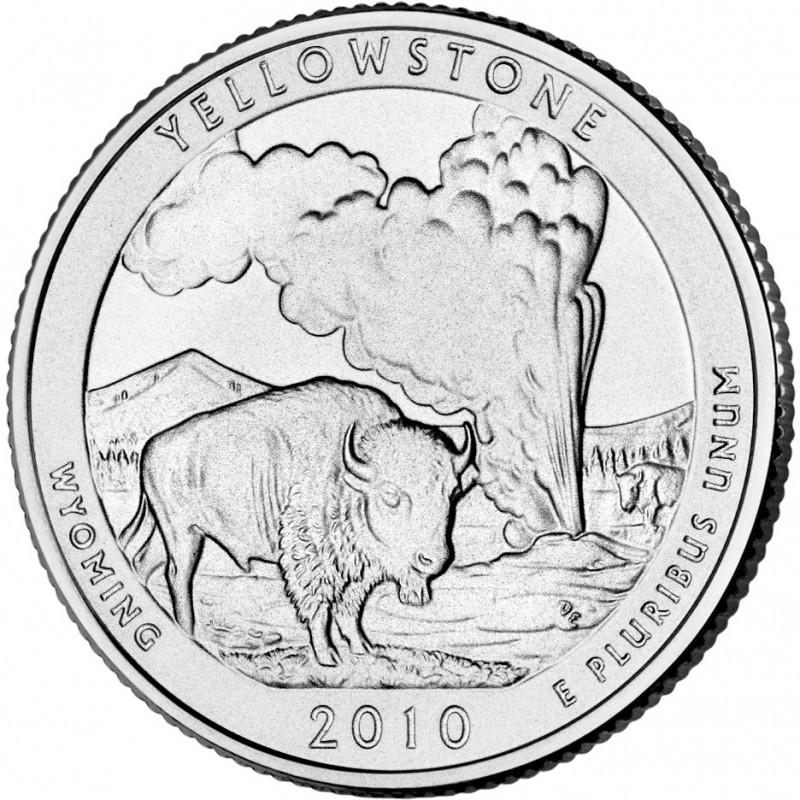 2010-D Yellowstone National Park Quarter