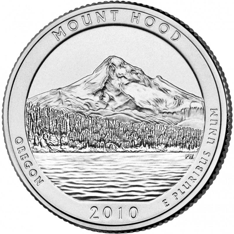 2010-P Mount Hood National Park Quarter