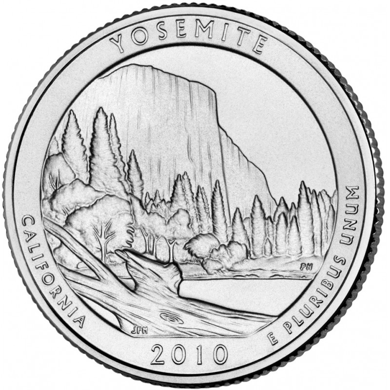 2010-P Yosemite America The Beautiful Quarters National Park Quarters