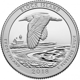2018-S Block Island National Wildlife Refuge Silver Proof Quarter