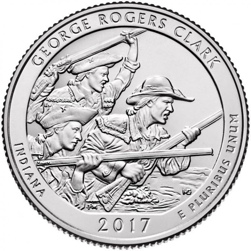 2017-D George Rogers Clark National Historical Park Quarter