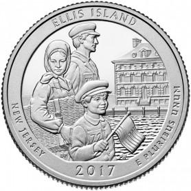 2017-S Ellis Island National Monument Proof Quarter