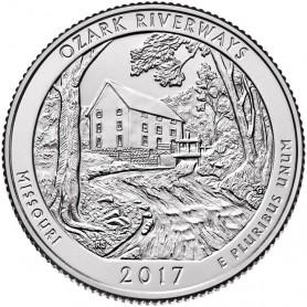 2017-D Ozark National Scenic Riverways Quarter