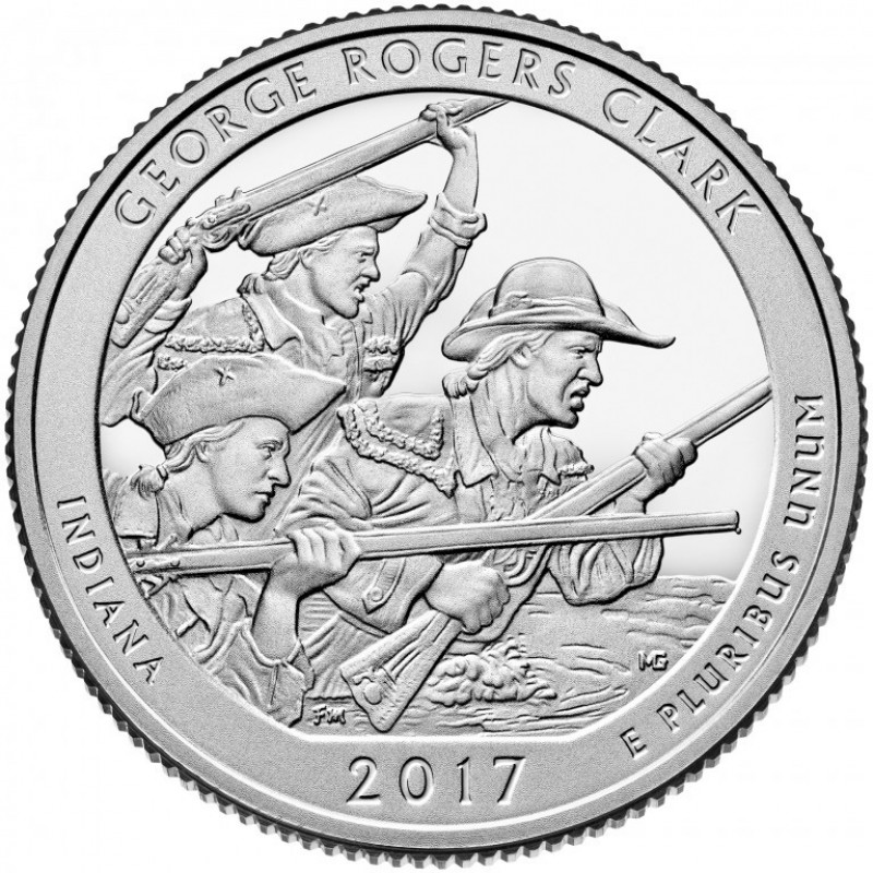 2017-S George Rogers Clark National Historical Park Silver Proof Quarter