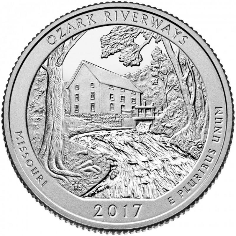 2017-S Ozark National Scenic Riverways Silver Proof Quarter