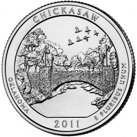 2011-P Chickasaw America The Beautiful Quarters National Park Quarters