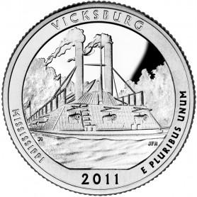 2011-S Vicksburg National Military Park Quarter Proof