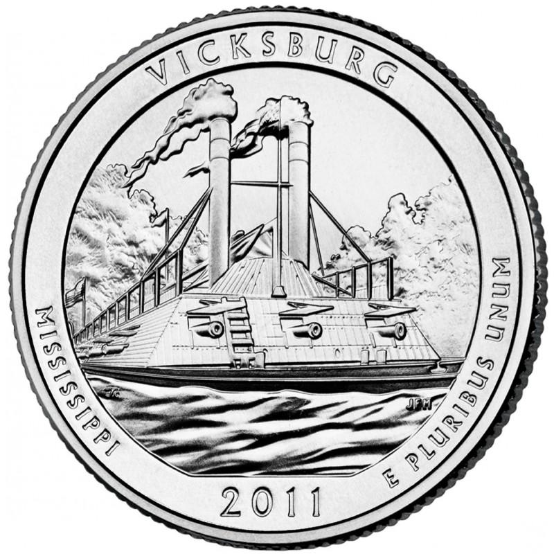 2011-P Vicksburg America The Beautiful Quarters National Park Quarters