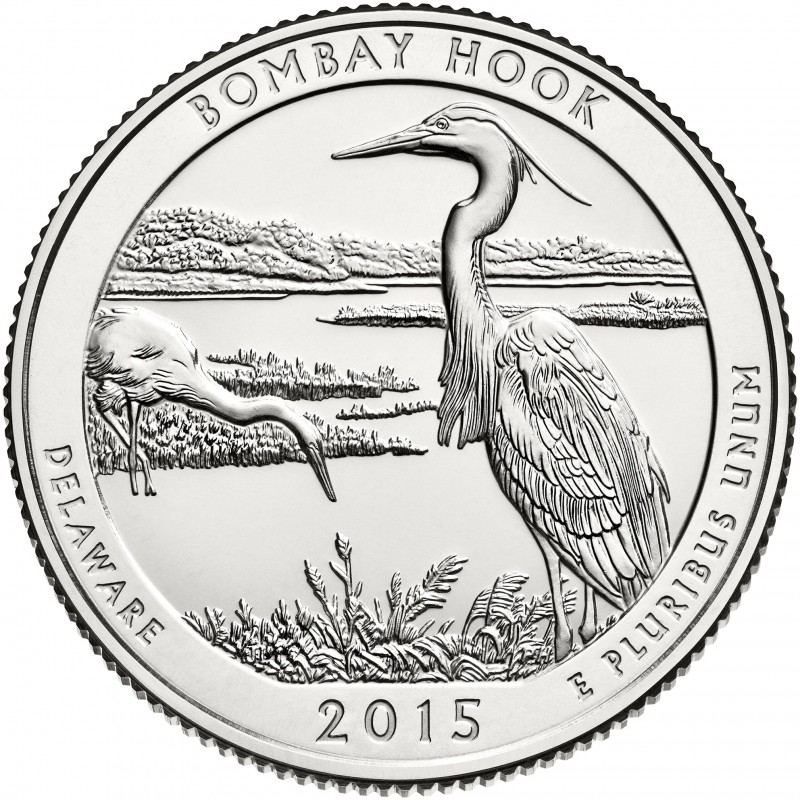 2015-D Bombay Hook America The Beautiful Quarters National Park Quarters