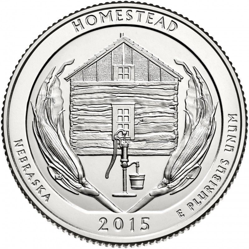 2015-D Homestead America The Beautiful Quarters National Park Quarters