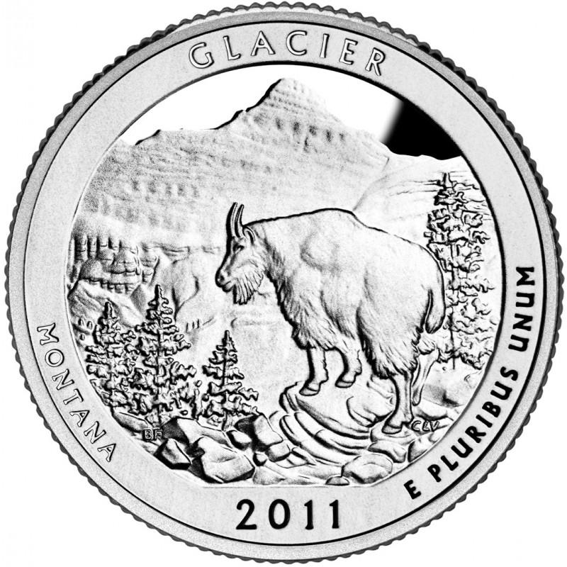 2011-S Silver Glacier National Park Quarter Proof