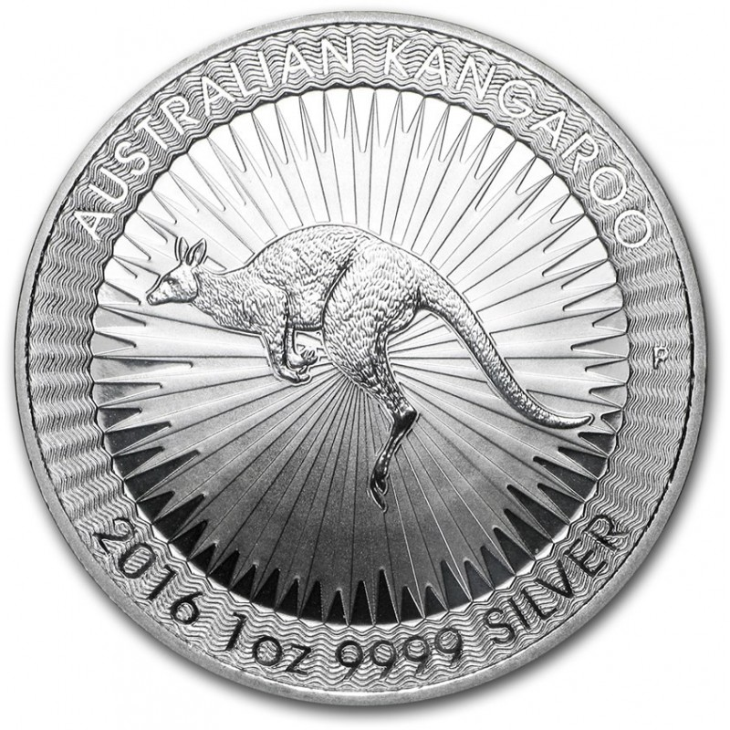 2016 1oz Australian Silver Kangaroo Coin (BU)
