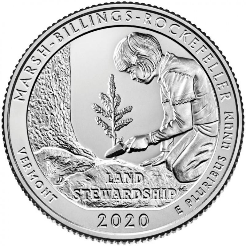 2020-S Silver Marsh-Billings-Rockefeller National Historical Park Quarter Proof