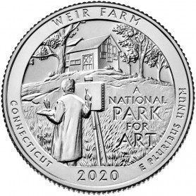 2020-S Silver Weir Farm National Historic Site Quarter Proof