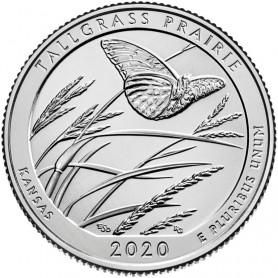 2020-S Silver Tallgrass Prairie National Preserve Quarter Proof .999