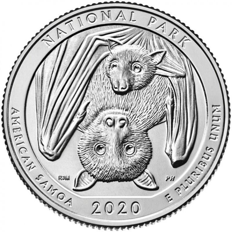 2020-S Silver National Park of American Samoa Quarter Proof .999