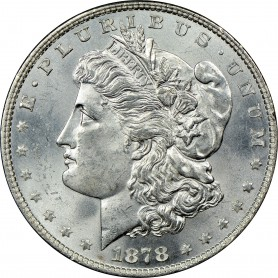 1878-P 8 Tail Feather Morgan Silver Dollar Key Date