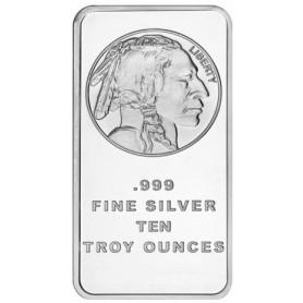 SilverTowne Buffalo Design 10 oz .999 Silver Bar