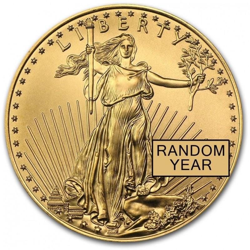 1/2 oz. Gold Eagle Random Year