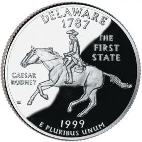 1999-S Delaware Silver Proof State Quarter