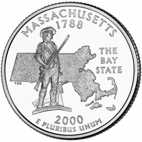 2000-D Massachusetts State Quarter