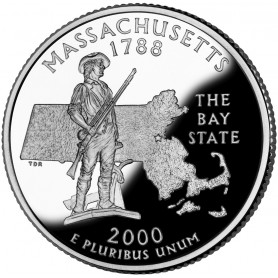 2000-S Massachusetts Silver Proof State Quarter