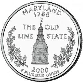 2000-D Maryland State Quarter