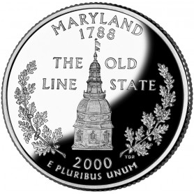 2000-S Maryland Silver Proof State Quarter