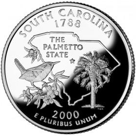 2000-S South Carolina Silver Proof State Quarter