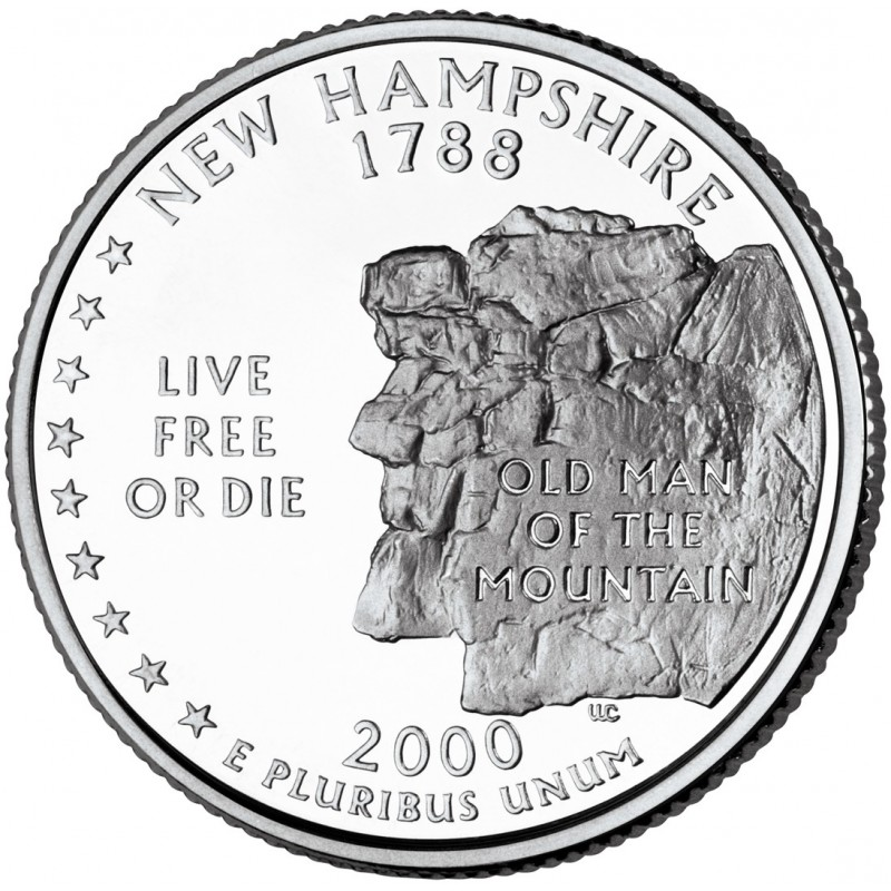2000-D New Hampshire State Quarter