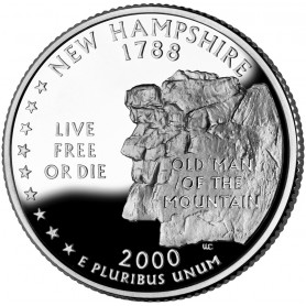2000-S New Hampshire Silver Proof State Quarter
